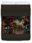 Battle With The Undead Dragon Duvet Cover