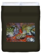 Battlefield In Fall Colors Duvet Cover