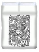 Battlefield Surgeon, 1540 Duvet Cover