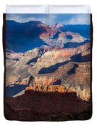 Battleship Rock At The Grand Canyon Duvet Cover