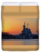 Battleship Sunset Duvet Cover