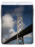 Bay Bridge After The Storm Duvet Cover