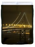 Bay Bridge Fog Duvet Cover