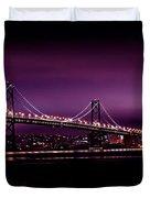 Bay Bridge Purple Haze Duvet Cover