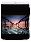 Bay Bridge Reflections Duvet Cover