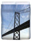 Bay Bridge San Francisco Duvet Cover