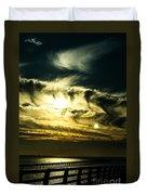 Bay Bridge Sunset Duvet Cover