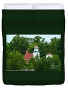 Bay Of Green Bay Lighthouse Duvet Cover