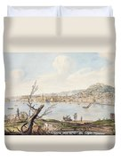 Bay Of Naples From Sea Shore Duvet Cover