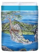 Bay View In Oregon Duvet Cover