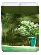 Bay Window Plant Duvet Cover