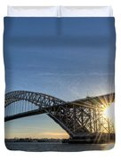 Bayonne Bridge Sunburst Duvet Cover