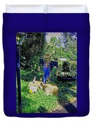 Bayou Crow Scarecrow At Bellingrath Gardens Duvet Cover