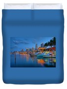 Bayside Marketplace Duvet Cover