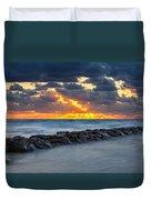 Bayside Sunset Duvet Cover