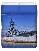 Bb-60 Uss Alabama Duvet Cover