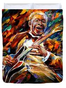 Bb King - Palette Knife Oil Painting On Canvas By Leonid Afremov Duvet Cover