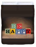 Be Happy - Jabberblocks Duvet Cover