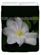 Be Who You Are Duvet Cover