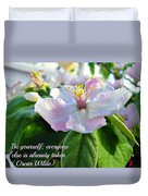 Be Yourself Flower Duvet Cover