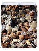 Beach Agates Duvet Cover by Carol Groenen