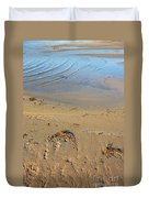Beach And Rippled Water. Duvet Cover