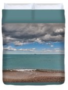 Beach And Ships. Duvet Cover