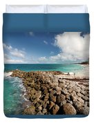 Beach At Atlantis Resort Duvet Cover
