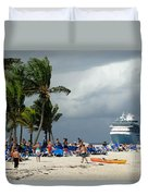 Beach At Coco Cay Duvet Cover