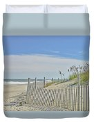 Beach At Outer Banks Duvet Cover