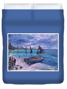 Beach At Saint Address Duvet Cover