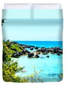 Beach At St. George Bermuda Duvet Cover
