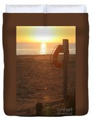 Beach At Sunset Duvet Cover
