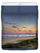 Beach At Twilight Duvet Cover