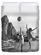 Beach Ball Dancing Duvet Cover