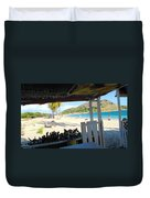 Beach Bar In January Duvet Cover