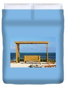 Beach Bench Duvet Cover