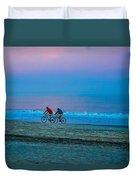 Beach Biking  Duvet Cover