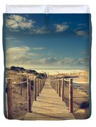 Beach Boardwalk Duvet Cover