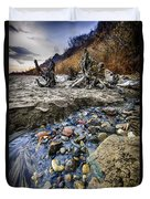 Beach Brook At Scarborough Bluffs Duvet Cover by Elena Elisseeva