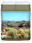 Beach Chairs With A View Duvet Cover