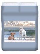 Beach Dogs Duvet Cover