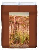 Beach Dune Fence At Cape May Nj Duvet Cover