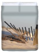 Beach Fencing Duvet Cover