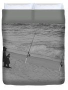 Beach Fishing Duvet Cover