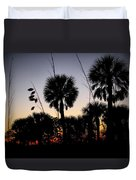 Beach Foliage At Sunset Duvet Cover
