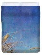 Beach Grass In The Wind Duvet Cover