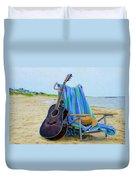 Beach Guitar Duvet Cover