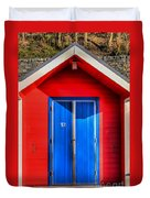 Beach Hut 12 Duvet Cover
