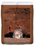 Beach Hut Santorini Style Duvet Cover
